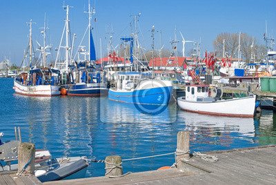 Posters Port de Burgstaaken sur l'île de vacances de Fehmarn