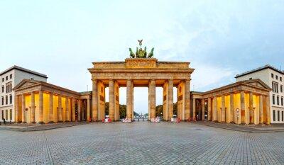 Posters Porte de Brandebourg panorama à Berlin, Allemagne