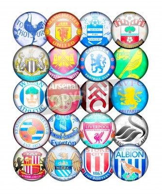 Posters Premier League 2012/13 Équipes: Couleurs et badges de clubs de football anglais