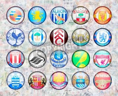 Posters Premier League anglaise de football Équipe 2012/13