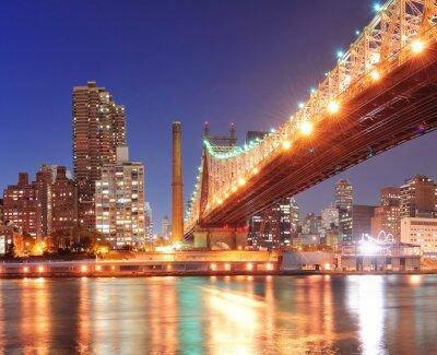 Posters Queensboro Bridge et Manhattan