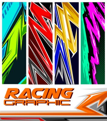 Posters racing jersey pattern