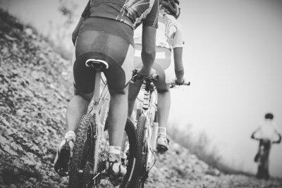 Posters Ragazzo ciclista gara di mountainbike