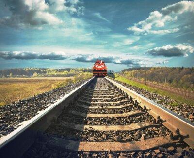 Posters Railroad avec un train de marchandises