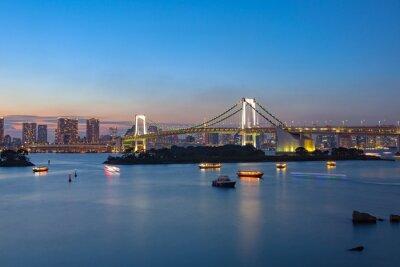 Posters Rainbow Bridge Odaiba Tokyo Japan destination importante pour visiter