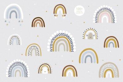 Posters Rainbow pattern kids decor white background logo design background fashion wedding invitation christmas card retro christmas winter poster font wedding abstract christmas logo flyer brochure