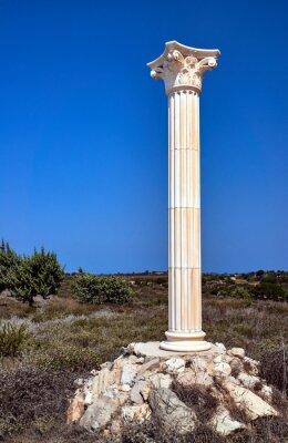 Posters Reconstruction de colonnes corinthiennes sur l'île de Kos, en Grèce.