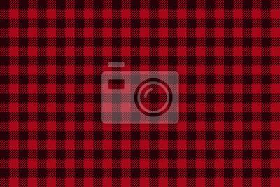Posters Red Black Lumberjack plaid seamless pattern