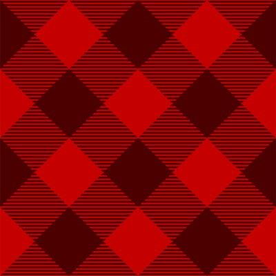 Posters Red Tartan Check Plaid seamless patterns. Lumberjack Buffalo plaid. Rustic Christmas Backgrounds. Christmas tartan patterns. Repeating pattern tile