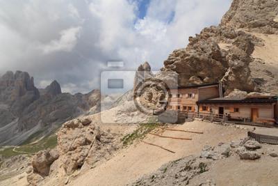 Refugio Passo Principe, Rosengarten, Dolomites, Italie