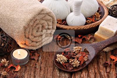 Réglage de massage Spa avec des bougies