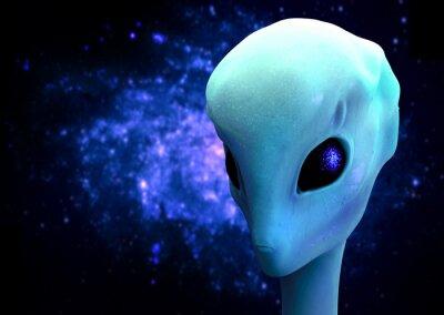 Posters Rendu 3d d'un étranger, extraterrestre visiteur