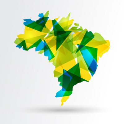 Posters Résumé carte Brésil