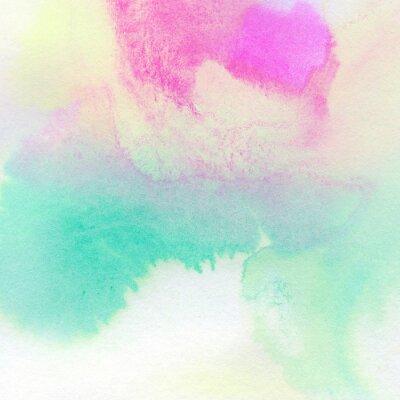 Posters Résumé de fond aquarelle colorée peinte