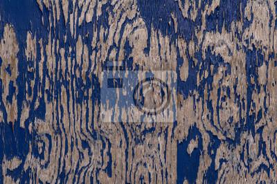Résumé de près de décollement de la peinture sur la texture du bois