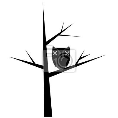 Résumé des arbres avec le hibou stylisé