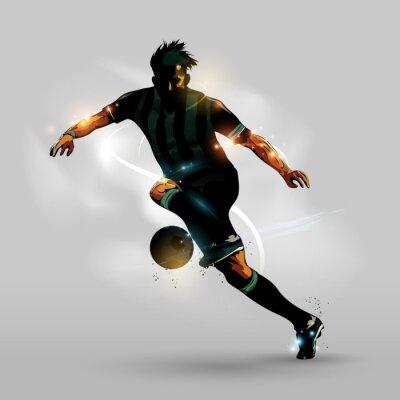 Posters Résumé football courir avec le ballon