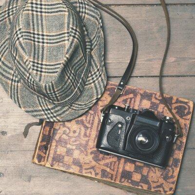Posters Retro, appareil photo, vendange, Trilby, chapeau, Album, b