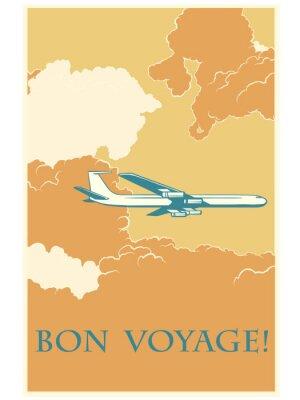 Posters Retro avion Bon voyage