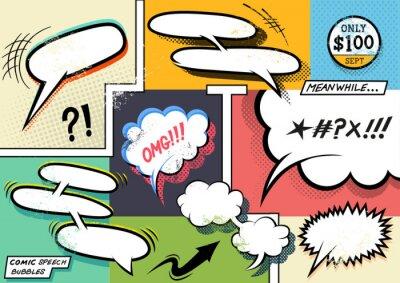 Posters Rétro Comic Speech Bubbles