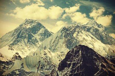Posters Rétro image tonique du mont Everest, Népal.
