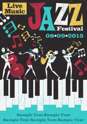 Posters Rétro Jazz Festival affiche abstraite