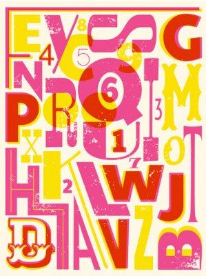 Posters Rétro lettres et des chiffres