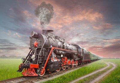 Posters Rétro locomotive à vapeur soviétique