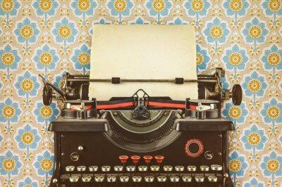 Posters Retro, stylé, image, vieux, machine à écrire