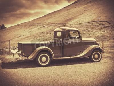 Posters Rétro, style, sépia, image, vendange, camion ...