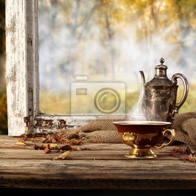 rétro tasse de boisson chaude