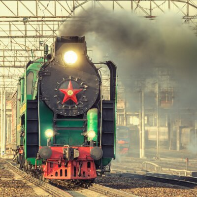 Posters Retro train à vapeur.