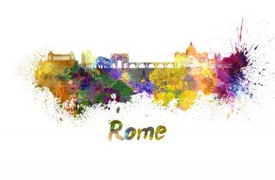 Posters Rome horizon à l'aquarelle