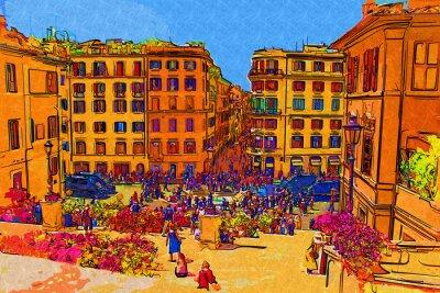 Posters Rome, Italie, art, Illustration