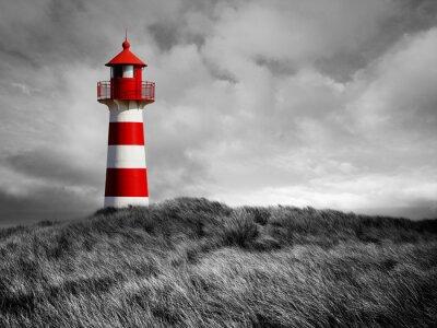 Posters Rot-Weißer Leuchtturm