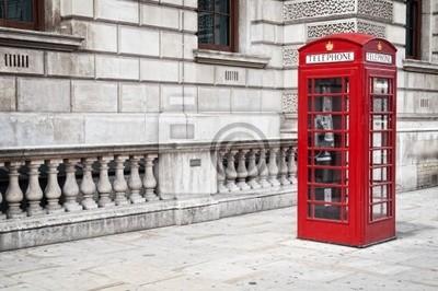 Royaume-Uni boîte de téléphone rouge de style ancien traditionnel à Londres.
