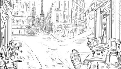 Posters Rue de Paris - illustration