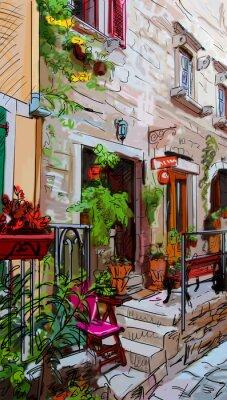 Posters Rue de Rome - illustration
