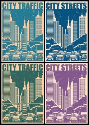 Posters Rues de la ville