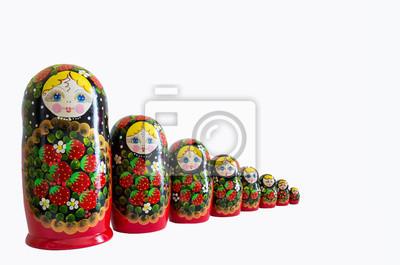 russe matryoska isolé
