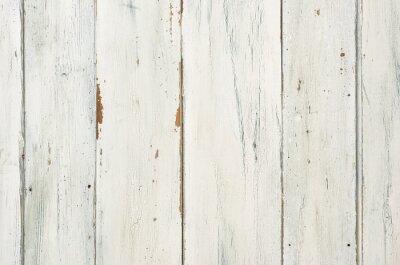 Posters Rustikaler weißer Holzhintergrund