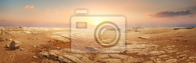 Posters Sandy desert in Egypt