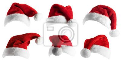 Posters Santa Hat set over white