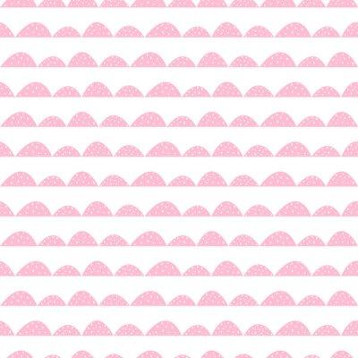 Posters Scandinave, seamless, rose, modèle, main, dessiné, style Lignes de collines stylisées. Motif ondulé simple pour tissu, textile et linge de bébé.