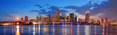 Scène de nuit à Miami