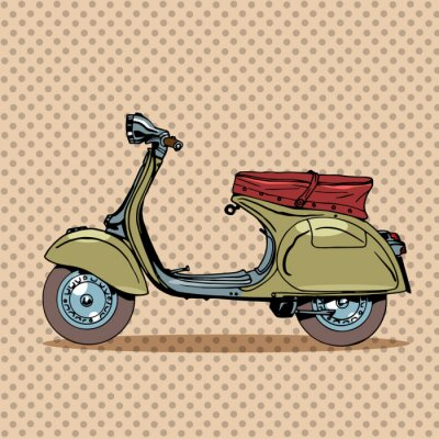 Posters Scooter vintage rétro transports