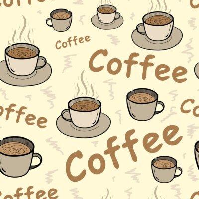 Posters Seamless, café, vapeur