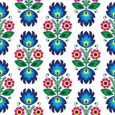 Posters Seamless floral traditionnel polonais - l'origine ethnique