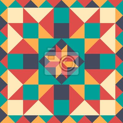 Posters Seamless modèle dans le style de patchwork, vecteur.