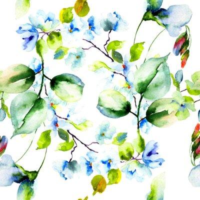 Posters Seamless pattern de fleurs printanières
